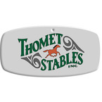 Full Color Equestrian Stall Plaques - Tag Shape