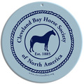 Full Color Equestrian Stall Plaques - Round Shape