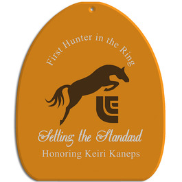 Full Color Equestrian Stall Plaques - Horse Shoe Shape