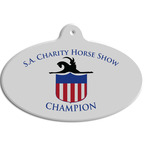 Full Color Equestrian Stall Plaques - Oval Shape