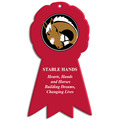 Full Color Equestrian Stall Plaques - Rosette Shape