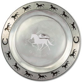 Pewtarex™ Horse Rim Award Plate