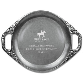 Engraved Floral Handled Horse Show Award Tray