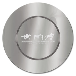 Round Charger Horse Show Award Tray