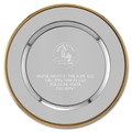 Silver Charger Horse Show Award Tray w/ Gold Border