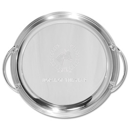 Round Horse Show Award Tray w/ Handles