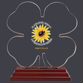 Clover Shaped Acrylic Award Trophy