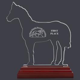Engraved Horse Shaped Acrylic Award Trophy