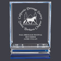 Acrylic Horse Show Trophy w/ Blue Reflective Base