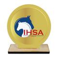 Custom Shape Birchwood Horse Show Award Trophy w/ Natural Birchwood Base