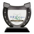 Birchwood Horseshoe Horse Show Trophy w/ Black Base
