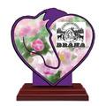Custom Shape Birchwood Horse Show Award Trophy w/ Rosewood Base