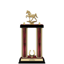 "15"" Ruby Finished Horse Show Award Trophy w/ Trim"