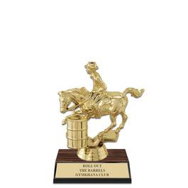 """5-1/2"""" Walnut Finished Horse Show Award Trophy"""
