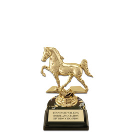 "5-1/2"" Black HS Base Horse Show Award Trophy"
