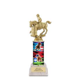 "10"" White HS Base Horse Show Award Trophy"