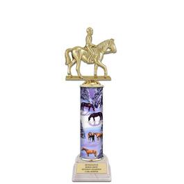 "12"" White HS Base Horse Show Award Trophy"