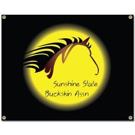 Custom Vinyl Horse Show Banner - Horizontal