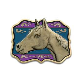 Sculpted Horse Show Award Belt Buckle