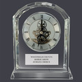 Crystal Desk Clock Horse Show Award