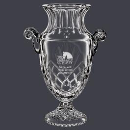 Durham Crystal Vase Horse Show Trophy w/ Handles