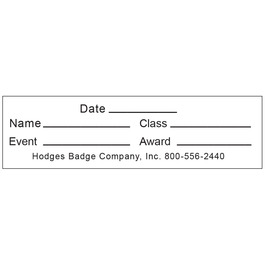 Rectangular Stick-on Record Card for Neck Ribbons
