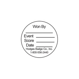 Round Stick-on Record Card for Horse Show Medals