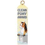 Clean Pony Horse Show Award Ribbon