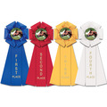 Stock Beauty Horse Show Rosette Award Ribbon