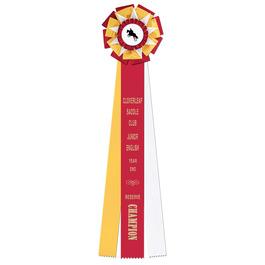 Newcastle Horse Show Rosette Award Ribbon