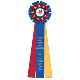 Oxford Horse Show Rosette Award Ribbon