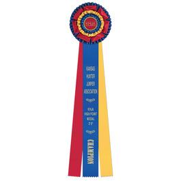 Mansfield Horse Show Rosette Award Ribbon