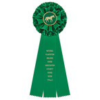 Rutland Horse Show Rosette Award Ribbon