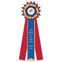 Amesbury Horse Show Rosette Award Ribbon