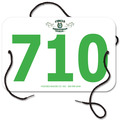 Custom Full Color Small Rectangular Rider Number w/ String