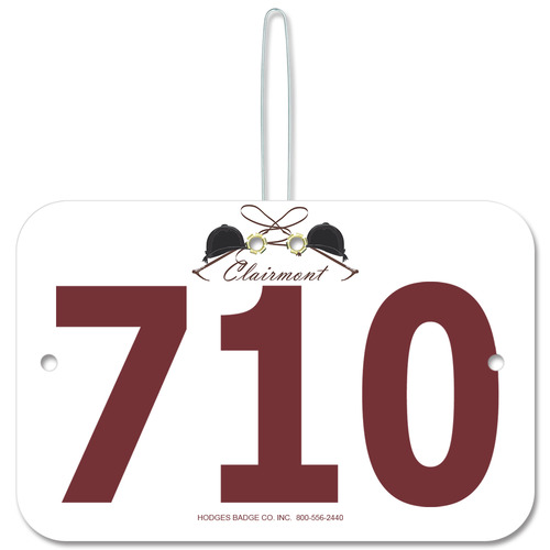 Custom Rectangle Horse Show Rider Number W Hook Hodges