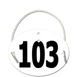 Stock Arm Dressage Oval Rider Number w/ Elastic