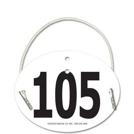 Indurotec(TM) Custom Full Color Oval Rider Number w/ Elastic