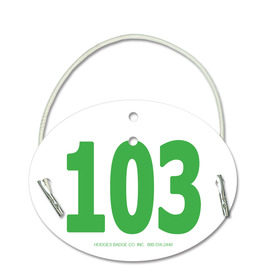 Arm Dressage Oval Rider Number w/ Elastic