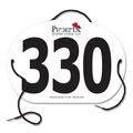 Indurotec(TM) Custom Full Color Oval Rider Number w/ String
