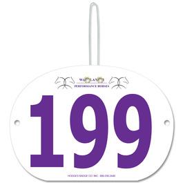 Indurotec(TM) Custom Full Color Large Oval Rider Number w/ Hook