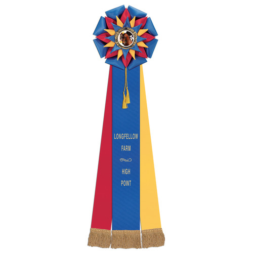 Stafford Horse Show Rosette Hodges Badge Company