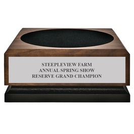 Medium Walnut Horse Show Championship Base