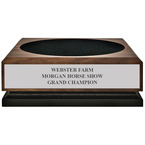 Large Walnut Horse Show Presentation Base w/ Engraved plate