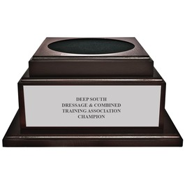 Large Cherry Horse Show Trophy Base