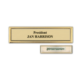 Metal Frame Name Badge w/ Pin