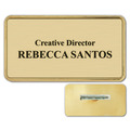 Plastic Frame Name Badge w/ Pin