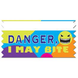 Danger, May Bite Ice-Breaker Ribbon