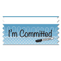 Stock I'm Committed Ice-Breaker Ribbon