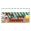 Stock It's 5 O'Clock Somewhere Ice-Breaker Ribbon